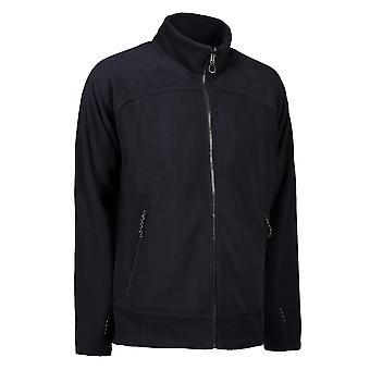ID Mens Zip N Mix Active Fleece Jacket