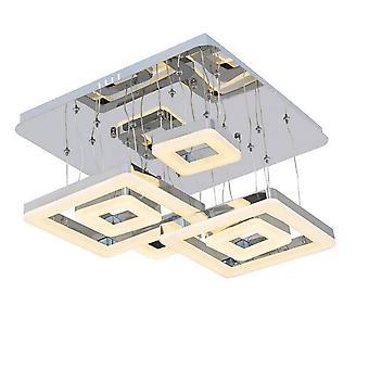 Lampe de plafond de lune 11 couleur chrome métal, acrylique 44x44x80 cm