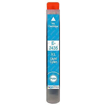 1 Cartuchos de tinta cian ligero para reemplazar Epson T2435 (Serie 24XL) Compatible/no OEM de las tintas Go
