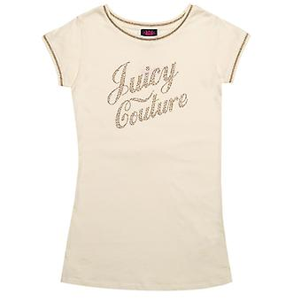Girl's Juicy Couture Junior Berry Tea Dress in White