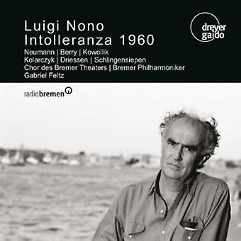 Luigi Nono - Luigi Nono: Intolleranza 1960 [CD] USA import