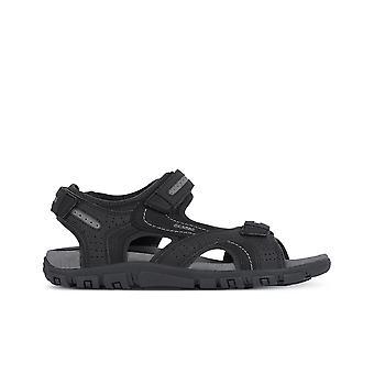 Geox uomo sandal strada sandaler herre sort 002