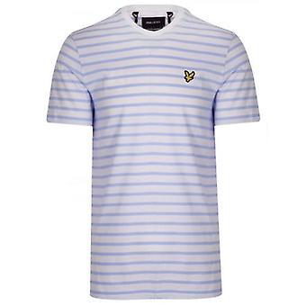 Lyle & Scott Blue & Cream Striped T-Shirt