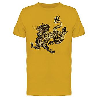 Chinese Dragon Portrait Tee Uomini's -Immagine di Shutterstock