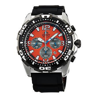 Orient Sports Watch FTW05005M0 - Rubber Gents Quartz Chronograph