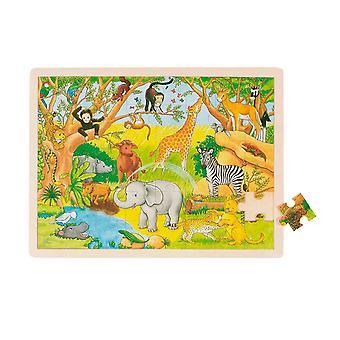 Goki Fenêtre en bois Puzzle Arfika 48Pcs