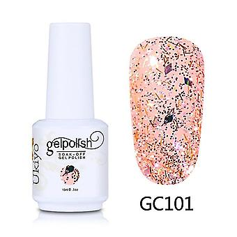 Nail Art Glitter Gel-nail Polish Soak Off Gel Varnish Diamond Lacquer Vernis Semi Permanant