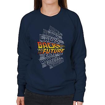 Geleceğe Dönüş Klasik Katmanlı Logo Women's Sweatshirt