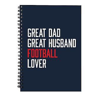 Stor pappa stor mann fotball elsker spiral notebook