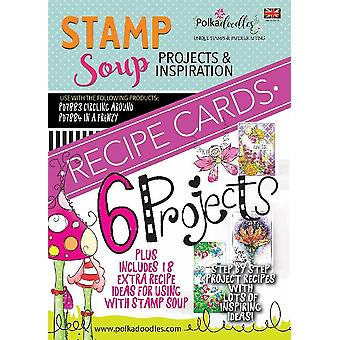 Polkadoodles Stamp Soup Funky Fantasy Recipe Cards 1