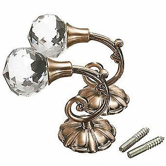 ylellinen metalli kristalli lasi verho holdback seinä tie takaisin roikkuu koukut 2kpl