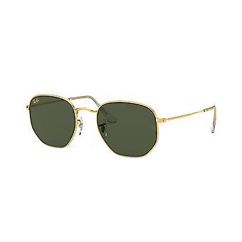 Ray-Ban Sekskantet Legend RB3548 9196/31 Guld Legende / Grønne solbriller