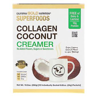 California Gold Nutrition, Superfoods, Collagen Coconut Creamer, Unsweetened, 12