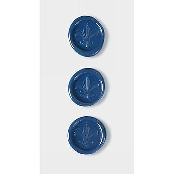 أختام الشمع Fleur De Lys الأزرق الكوبالت من أرتوز