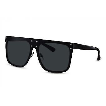 النظارات الشمسية المرأة مستطيلة كامل edgecatcated.3 أسود / أسود
