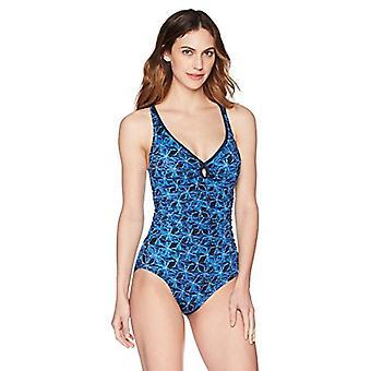 Merkki - Coastal Blue Women's Control Yksiosainen uimapuku, Tähdet kohdistettu, L