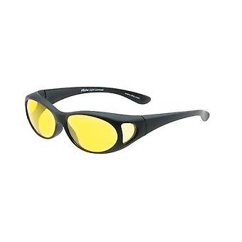 transférer lunettes de nuit noir unisexe avec objectif jaune Vz0002lh