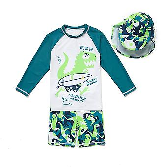 Bonverano Little Boys UPF 50+ Sun Protection Long Sleeves Swimsuit Sets