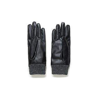 Desigual Astoria Gloves 20WAAL02  Black Faux Leather with Mandala