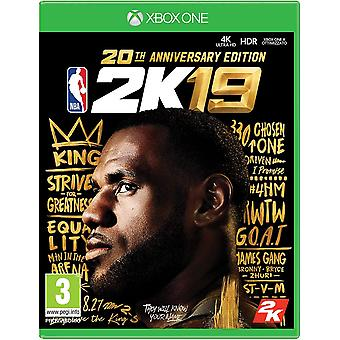 NBA 2K19 - 20th Anniversary Edition Xbox One (Duitse doos multitaal in game)