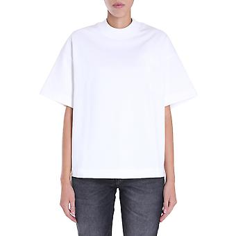 Ami H20fj13379150 Damen's weiße Baumwolle T-shirt