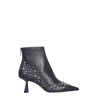 Jimmy Choo Kixvqxblack Women's Black Leather Ankle Boots