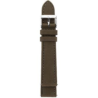 Gv2 By Gevril GV218.24.12.4 GV2 18mm Steel IP Buckle  Brown Suede Leather Strap
