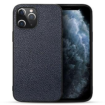 For iPhone 12 Pro Max Case Genuine Leather Durable Slim Protective Cover Blue