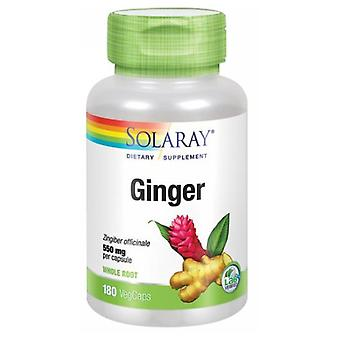 Radice di zenzero Solaray, 550 mg, 180 tappi