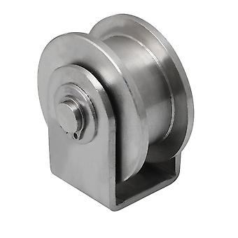 Stainless Steel H Type Groove Rail Track Bearing Fixed Pulley S Size