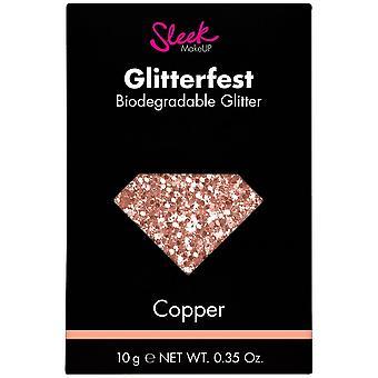 Sleek MakeUP Glitterfest - Biodegradable Glitter - Copper 10g (1213)