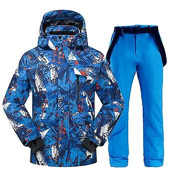 Ski Suit Hommes- Hiver Thermal Waterproof Vêtements résistant au vent Pantalon de neige / Ski