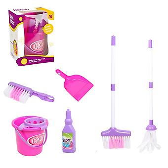 Baby Play Housekeeping- Mini Simulation Mop Broom Bucket Swab Kids, Role