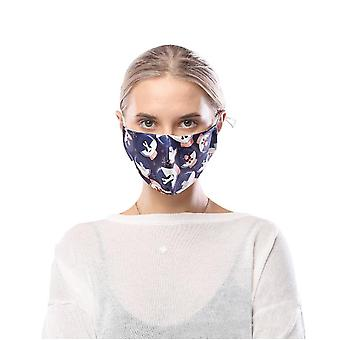 Christmas Theme Personalized Printing Mask 5pcs Breathable