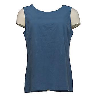 Joan Rivers Classics Collection Kvinder's Top Tank Blue A295141