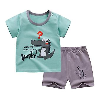 Cotton Summer Baby Soft Shorts Suit T-shirt, Kinderkleding