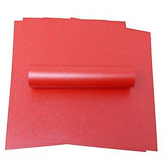 10 Ark A4 CHRISTMAS RED Sparkle Card 300gsm