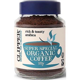 Clipper Organic & Fairtrade Medium Roast Instant Coffee 100g x6