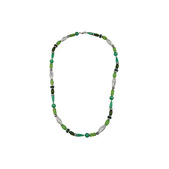 Halskette Perlen Mint-Seide 90cm