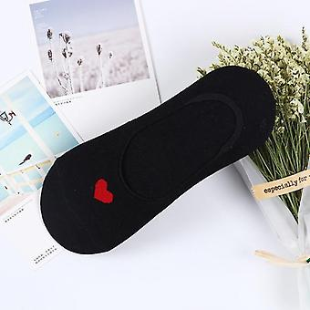 Women Sock Cotton, No Show, Non-slip Short Boat Socks Ankle Low