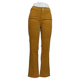 NYDJ Women's Jeans Marilyn Straight Leg Corduroy Brown A369022