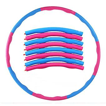 Pink+Blue Weighted Hula Hoop Abdominal Exerciser Fitness Core Strength Hoola