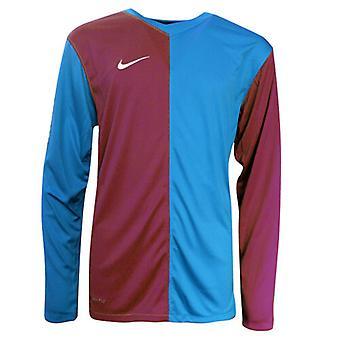 Nike Long Sleeved Football Pull Over Tee Top Shirt T-Shirt Kids 361132 677 A7D