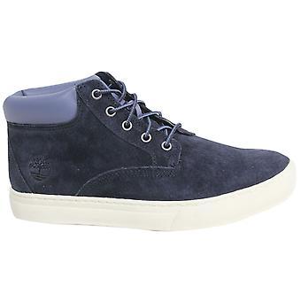 تيمبرلاند Dauset Chukka جلد الرجال الأحذية الدانتيل حتى الكاحل أحذية زرقاء A1615 Z23A
