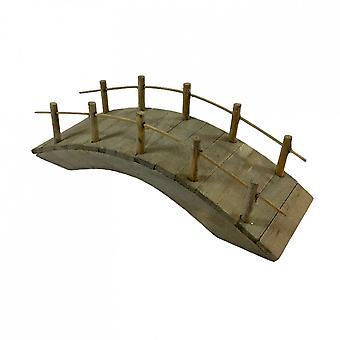 Κούκλες σπίτι ρουστίκ ξύλινη γέφυρα λιμνών μινιατούρα εξωραϊσμός Κήπος Αξεσουάρ