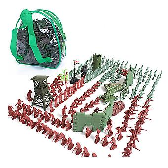 238pcs/set War Military sand table scene military base Plastic soldiers 4cm