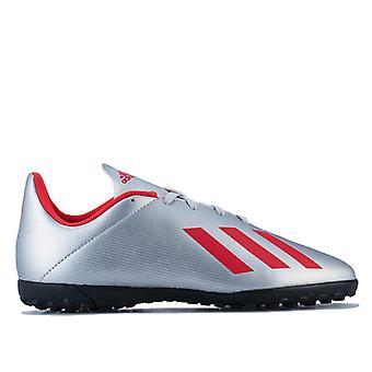 Boy's adidas Junior X 19.4 TF Football Boots in Silver