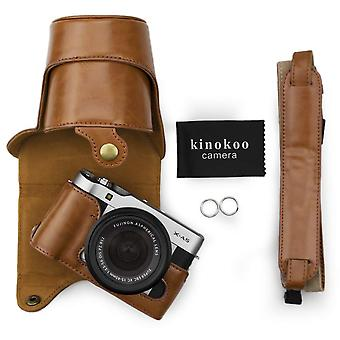 Kinokoo pu leather camera case for fujifilm x-a3, fujifilm x-a10 fujifilm x-a5 and 16-50mm lens with