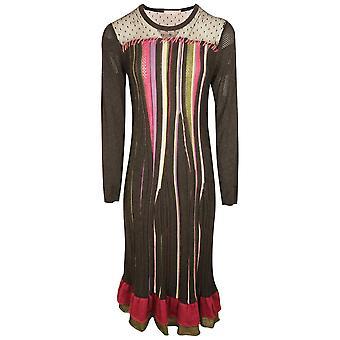 Evalinka Black Long Sleeve Wool Blend Knitted Dress