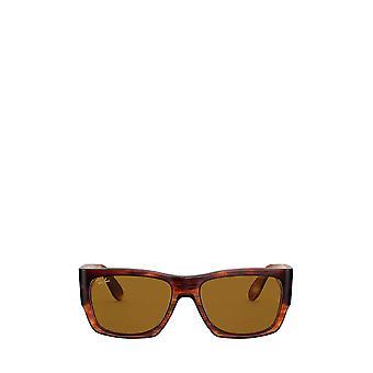 Ray-Ban RB2187 striped havana unisex sunglasses